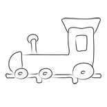 coloring online locomotive